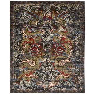 Barclay Butera Dynasty Empress Midnight Area Rug by Nourison (5'6 x 8')