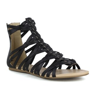 Mark and Maddux Women's Brandon-02 Gladiator Strappy Sandal (As Is Item)