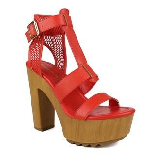 Mark and Maddux Women's Benjamin-09 T-strap High Heel Sandal