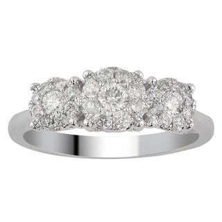 Divina 10k White Gold 1ct TDW Diamond Unity Ring