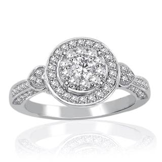 14k White Gold 3/4ct TDW Diamond Unity Ring (H-I, I2-I3)