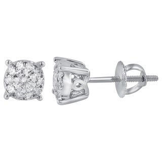 Divina 14k White Gold 2/5ct TDW Unity Diamond Earring (H-I, I1-I2)