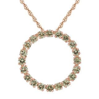 Divina 10k Pink Gold Peridot Circle Pendant