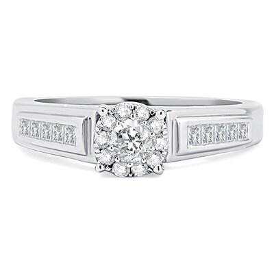 Divina 14k White Gold 1/2ct TDW Diamond Solitaire Unity Ring (H-I, I2-I3)