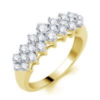 Divina 14k Yellow Gold 1ct TDW Diamond Pyramid Ring