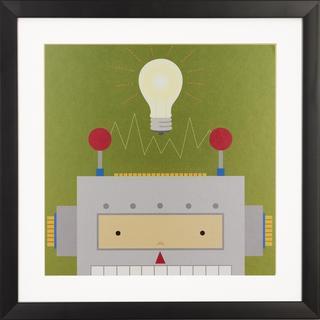 Peek a Boo Robot Children's Framed Art Print