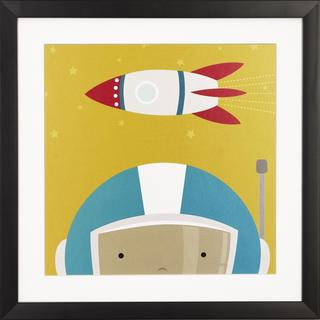 Peek a Boo Space Kid Children's Framed Art Print