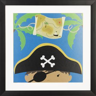 Peek a Boo Pirate Children's Framed Art Print