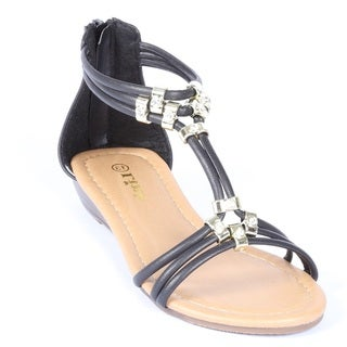 Coshare Forever Kid's Filosia-28K PU Strappy Low Wedge Sandals