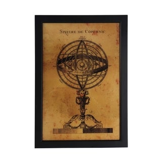 Vintage Globe Portrait Framed Wall Art