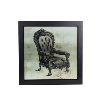 Vintage Chair Portrait Framed Wall Art
