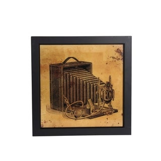 Vintage Camera Portrait Framed Wall Art