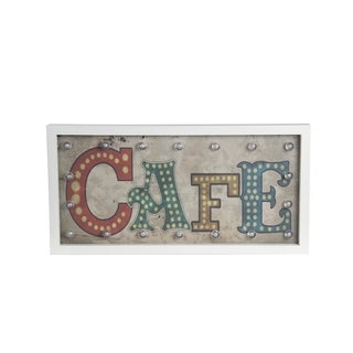 Cafe Vintage Wooden Wall Decor