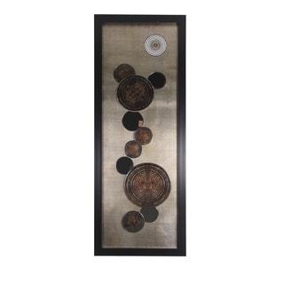 Mirrored Metal Geometric Framed Wall Art