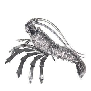 Silvertone Lobster Figurine