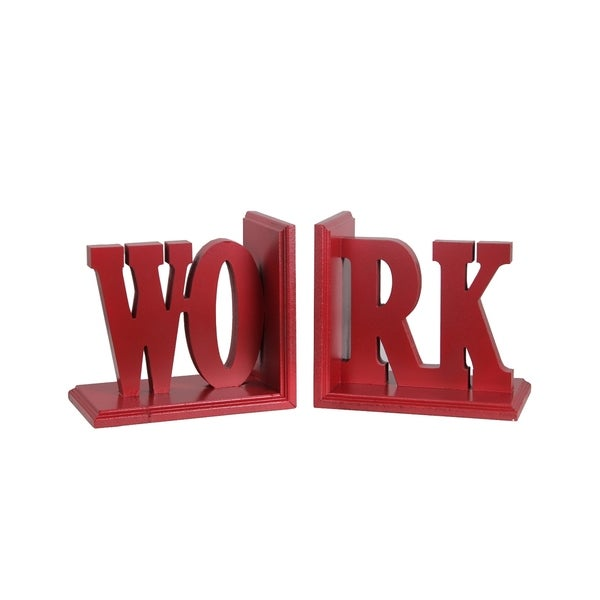 work word bookends set of 2 free shipping today overstock
