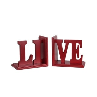 LIVE' Word Bookends (Set of 2)
