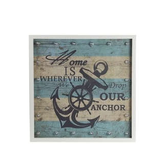 Anchor Nautical Striped Wall Dcor