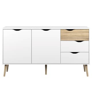 Diana White Oak 5-drawer Sideboard