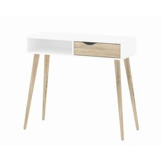 Diana White Oak Desk
