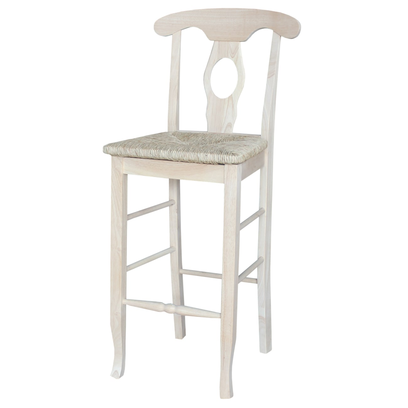 International Concepts Empire 30-inch Rush Seat Bar Stool...