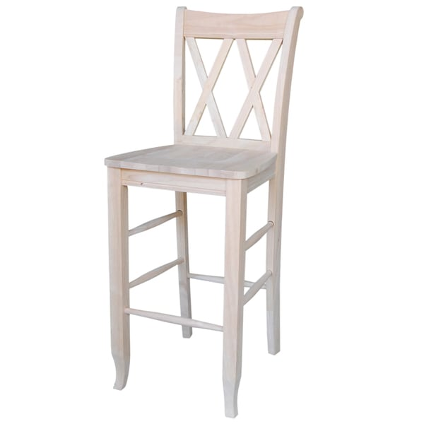 Shop Double X Back 30 Inch Bar Stool With Auto Return Swivel Free