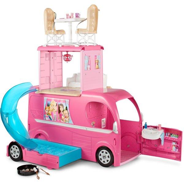 Barbie Pink Pop-up Camper Toy
