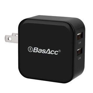 BasAcc 4.8A/ 24W 2-Port USB Travel Wall Charger for Apple iPhone SE/ 6 Plus/ iPad Air/ Mini/ iPod/ Samsung Galaxy S6/ S6 Edge