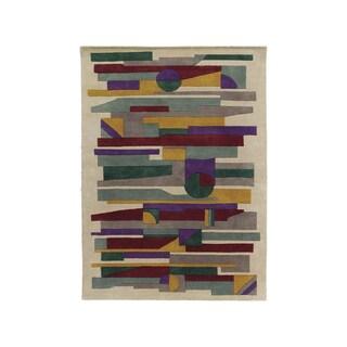 Handmade Alliyah Tan New Zealand Blend Wool Rug (8' x 10')