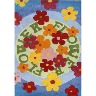Handmade Alliyah Multi-colored New Zealand Blend Wool Rug (9' x 12')