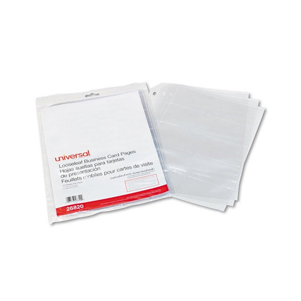 Shop Universal Clear Business Card Binder Pages (8 Packs