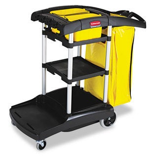 Rubbermaid Commercial Black High Capacity Cleaning Cart