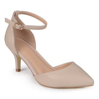 Journee Collection Women's 'Bay' Matte Ankle Strap Pumps