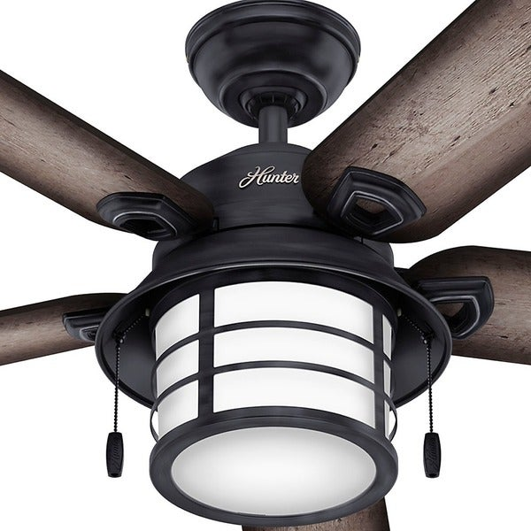 hunter key biscayne weathered zinc 5blade ceiling fan free shipping today