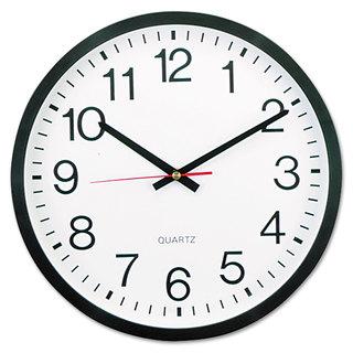 Universal Black Round Wall Clock