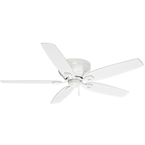 "Casablanca 54"" Durant Low Profile Ceiling Fan with Pull Chain - Snow White - Snow White"