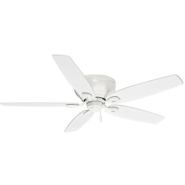 """Casablanca 54"""" Durant Low Profile Ceiling Fan with Pull Chain - Snow White - Snow White. Opens flyout."""