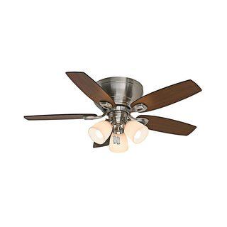 Casablanca 44-inch Durant Low Profile Brushed Nickel Reversible Blade Ceiling Fan