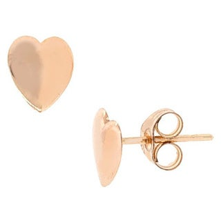 Pori 14k Yellow Gold Heart Stud Earrings