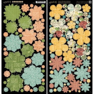Time To Flourish Cardstock DieCuts 6inX12in Sheets 2/PkgFlowers