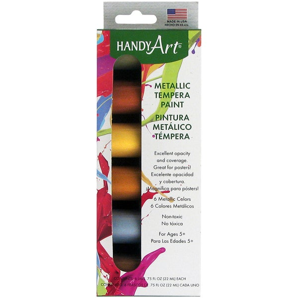 Handy Art Tempera Paint Kit 75oz 6 Pkgmetallic Free Shipping On Orders Over 45 Overstock