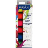 Handy Art Tempera Washable Paint Kit .75oz 6/PkgFluorescent