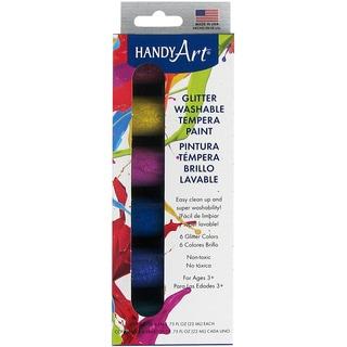 Handy Art Tempera Washable Paint Kit .75oz 6/PkgGlitter
