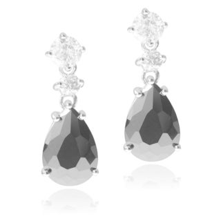 Journee Collection Sterling Silver Cubic Zirconia Tear Drop Dangle Earring