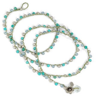 Sweet Romance Gemstone Hand Woven Wrap Bohemian Bracelet