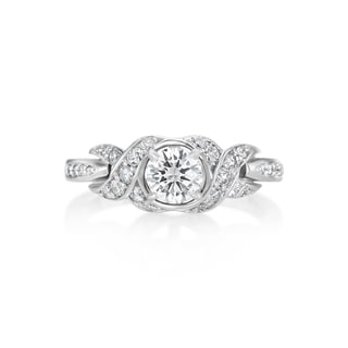 SummerRose 14k White Gold 3/4ct Diamond Soliataire and Side Stone Ring (H-I, SI1-SI2)