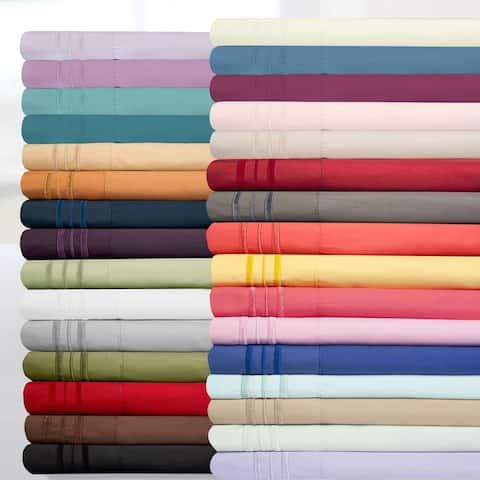 Deep Pocket Soft Microfiber 4-piece Solid Color Bed Sheet Set