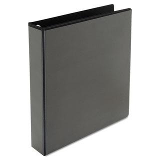 Universal One Black Comfort Grip Deluxe Plus D-Ring View Binder (Pack of 3)