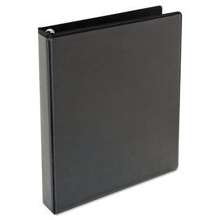 Universal One Black Comfort Grip Round Ring View Binder (Pack of 4)