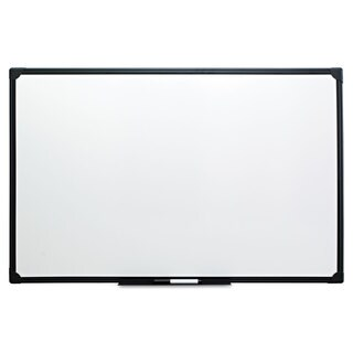 Universal One Black Frame Dry Erase Board